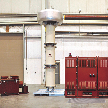 High voltage resonant test systems